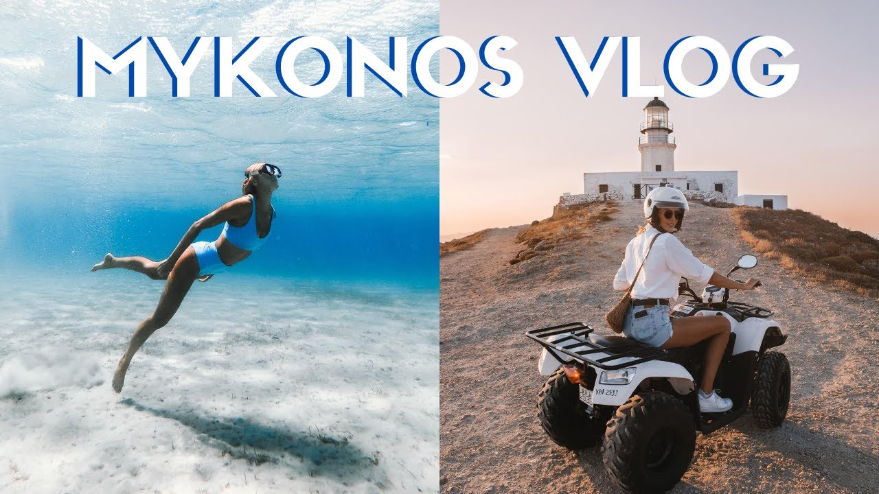 What I Eat In A Day In Mykonos   + Greece Travel Vlog!