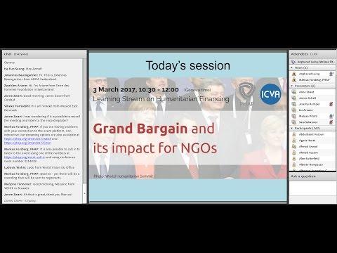 Humanitarian Financing - The Grand Bargain and its impact for NGOs
