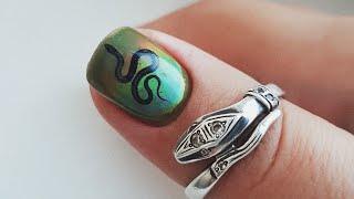 трендовый маникюр ЗМЕИ. Кристаллы на ногтях. Сенсорная гель-краска Masura Touch Gel Paint
