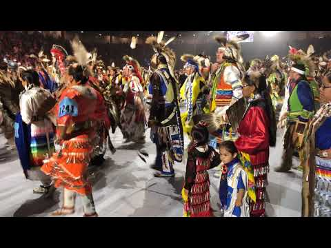 Grand Entry POWWOW 35th Annual Gathering Of Nations 2018 - Friday April 27  1st