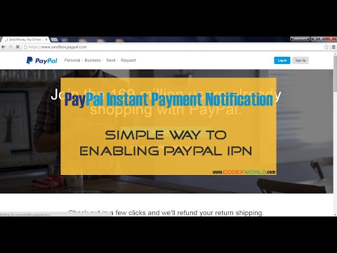 How to enable PayPal Instant Payment Notification (IPN)