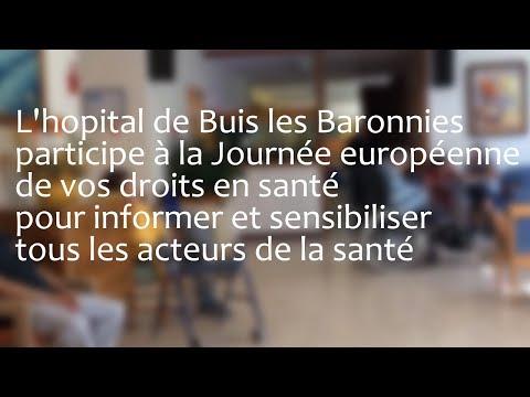L'hopital de Buis les Baronnies participe à la Journée européenne de vos droits en santé pour informer et sensibiliser tous les acteurs de la santé