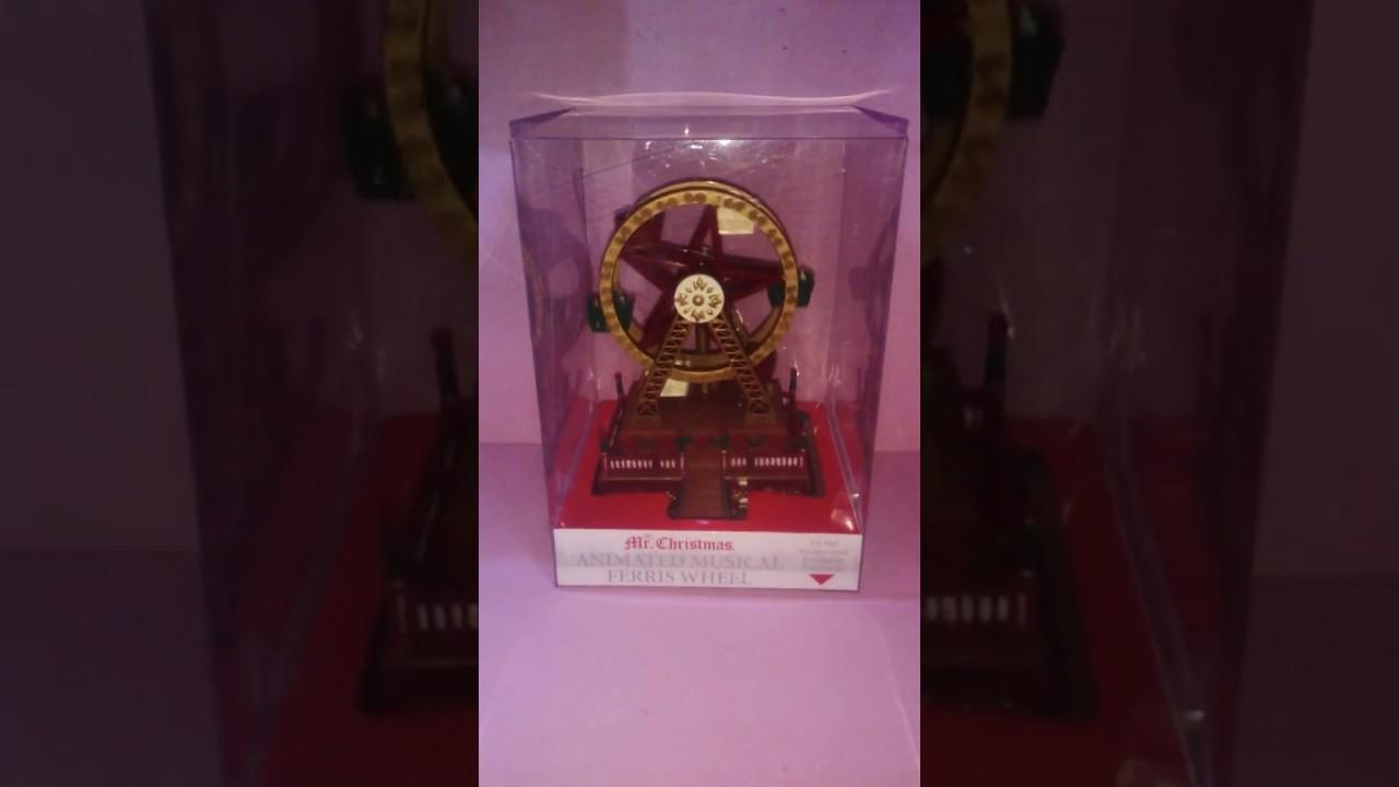 Christmas Ferris Wheel Music Box.Mr Christmas Mini Carnival Music Box Ferris Wheel