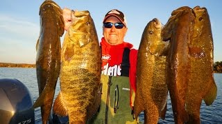 Giant Smallmouth Bass River Fishing