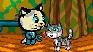 Котяткины истории 2 (Как зверушки говорят) - Мультик  для малышей - Три котенка