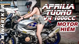 Xe Moto Hiếm Aprilia Tuono V4 1000cc - Gia Hân Lái Thử Bán Xe | MinhBiker