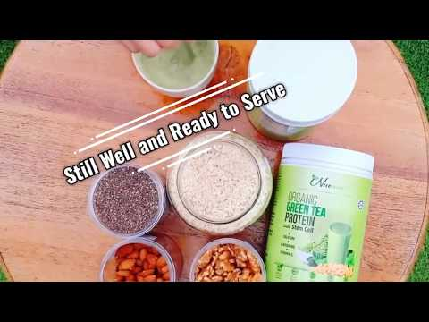 Healthy Breakfast Idea Nuewee Organic Green Tea Protein with Stem Cell