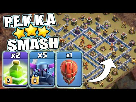P.E.K.K.A Smash Attack Strategy 2019 - Best Ground Pro Attack Strategy For TH12 | CLASH OF CLANS