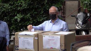Roma, primarie centrosinistra, Gualtieri al voto: