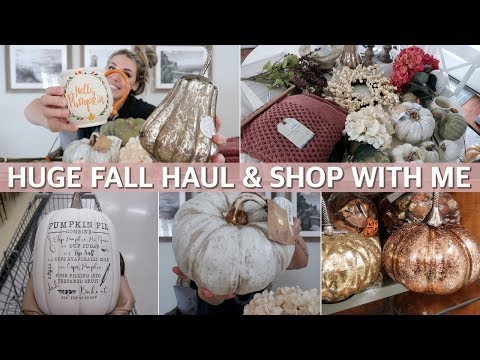 FALL HAUL 2019 & FALL DECOR SHOP WITH ME at Marshalls, Hobby Lobby & TJ Maxx | Lauren Midgley