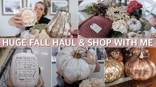 FALL HAUL 2019 & FALL DECOR SHOP WITH ME at Marshalls, Hobby Lobby & TJ Maxx | Lauren Midgley