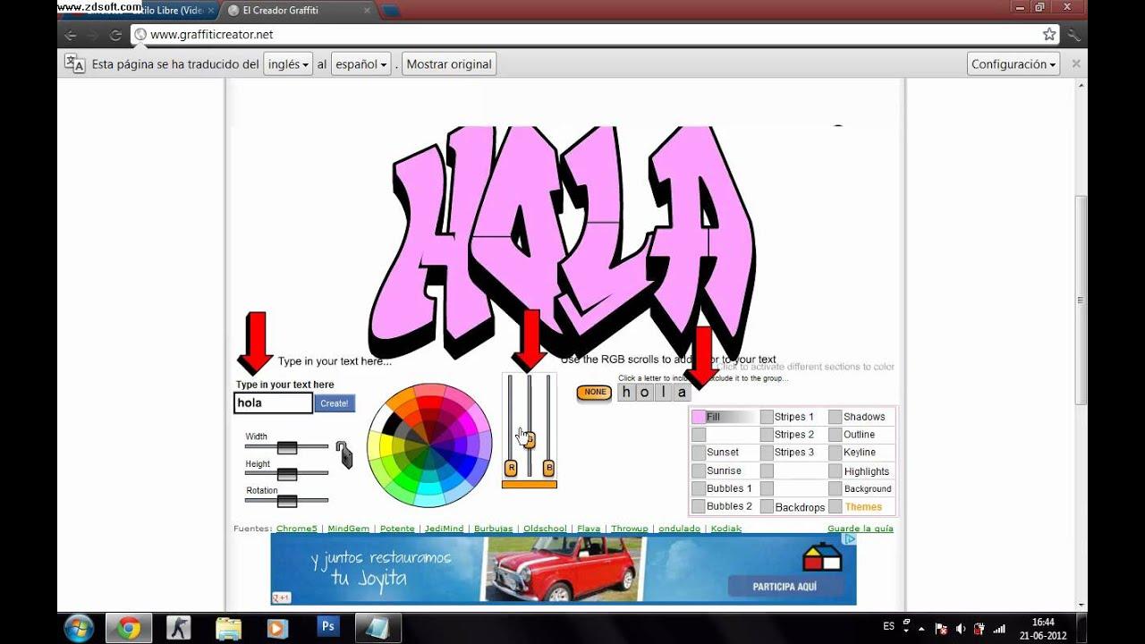 Como cambiar el dise o de las letras en graffiti creator for Disenos de literas