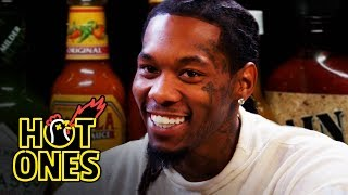 Download Offset Screams Like Ric Flair While Eating Spicy Wings | Hot Ones Mp3 and Videos