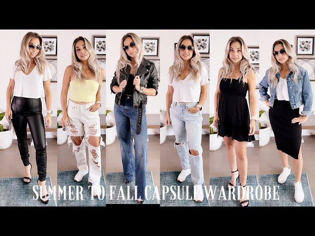 Summer to Fall Capsule Wardrobe