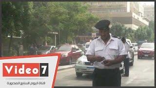بالفيديو.. حملة مرورية موسعة بشارع قصر العينى لضبط السيارات المخالفة