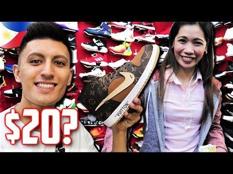 Philippines Fake Market SPREE! GREENHILLS Sneaker Shopping (Manila)