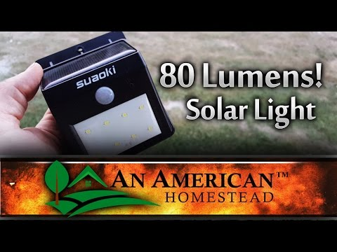 The Smallest Brightest Solar Light EVER!