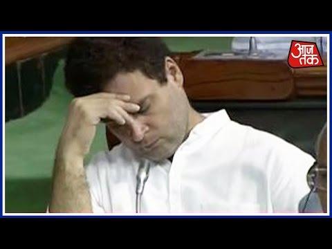 Shatak AajTak: Rahul Gandhi Found Sleeping In Parliament While Rajnath Singh's Speech