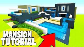 Minecraft Tutorial: How To Make A Modern Mansion #14