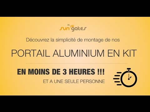 montage portail aluminium en kit sungates youtube. Black Bedroom Furniture Sets. Home Design Ideas
