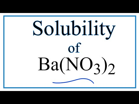 Is Ba(NO3)2 Soluble Or Insoluble In Water?