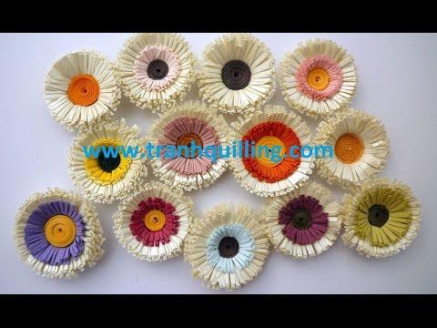 [Tranh Quilling] - Hướng Dẫn Làm bông hoa, tranh giay xoan hoa hong