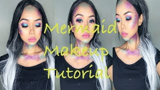 Mermaid Makeup Look Using Jaclyn Hill x Morphe palette! Halloween Tutorial || Asian || Zia Rahman