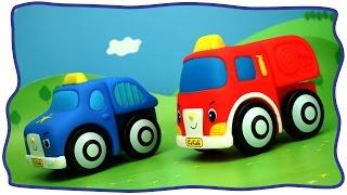 Развивающее видео для малышей. Пожарная машина, полицейская, бетономешалка, Эвакуатор(, 2015-04-02T23:04:38.000Z)