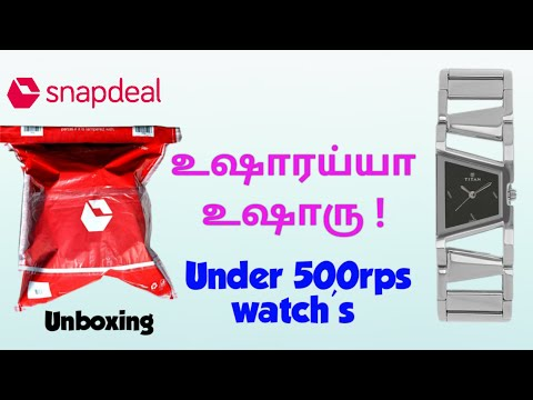 Titan Black Analog Women's Raga Series Watch Purchased Under 350rps On Snapdeal(unboxing)