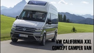 2018 vw california xxl camper van