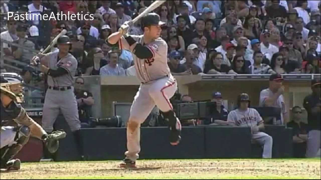 Slow Motion Baseball Swing >> Buster Posey Hitting Slow Motion Home Run Baseball Swing Giants MLB Batting Tips - YouTube