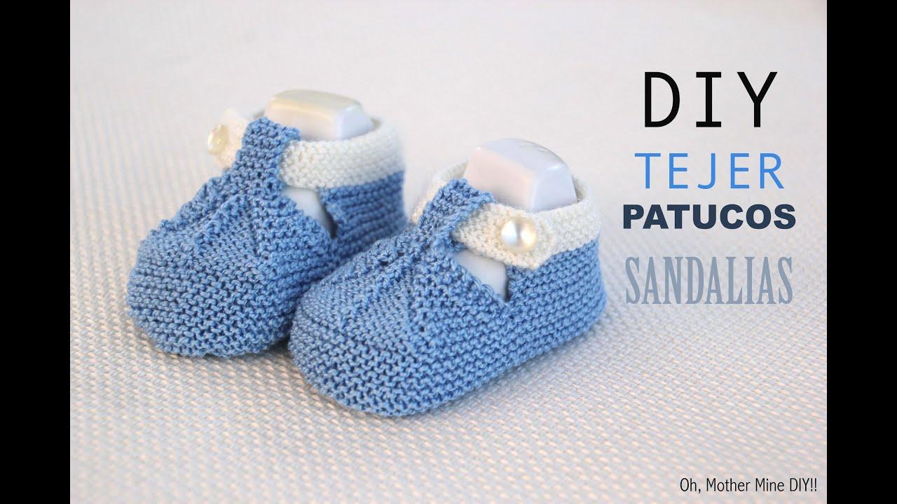 DIY Cómo tejer patucos sandalia para bebe (patrones gratis) - YouTube 46efdf1b540