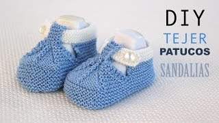 Repeat youtube video DIY Cómo tejer patucos sandalia para bebe (patrones gratis)