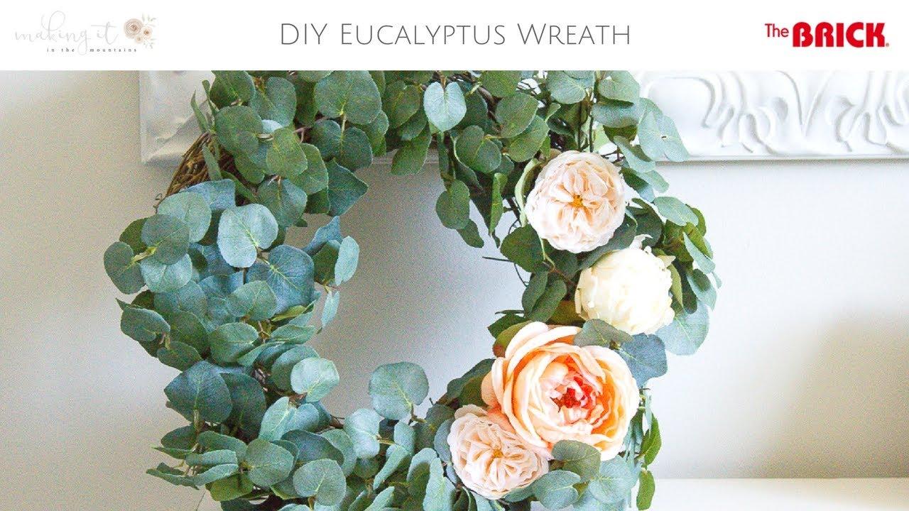 How To Make Your Own Diy Eucalyptus Summer Wreath