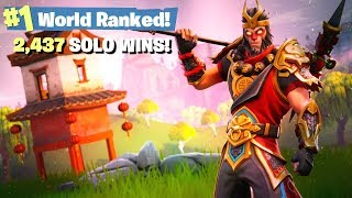 #1 Fortnite World Ranked - 2,437 Solo Wins thumbnail