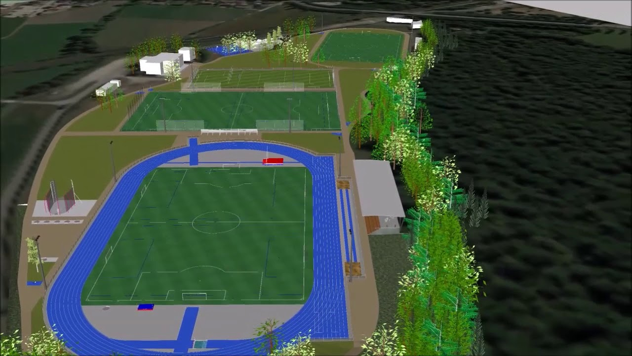 Brumath Projection Travaux Stade Remy Huckel Youtube