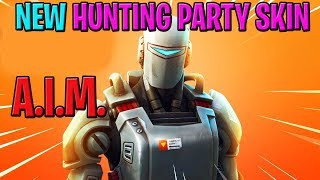 Fortnite Hunting Party Skin A.I.M. LIVE Gameplay | Daily Item Shop | Fortnite Battle Royale