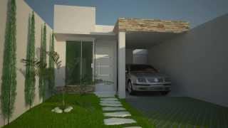 Projeto casa 3d sobrado 5x25 watch the video for Casa moderna minimalista interior 6m x 12 50m