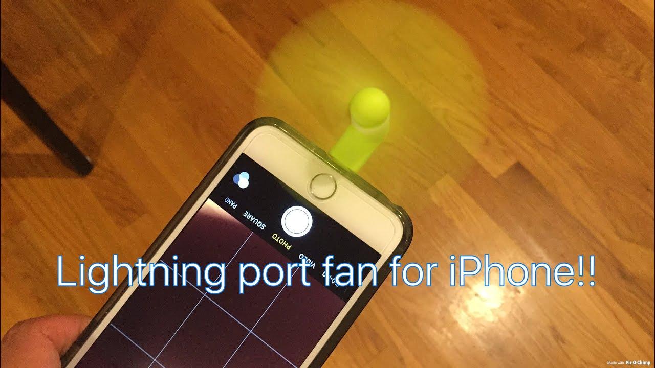 new product 3bd21 20ca5 Mini iPhone Fan (Lightning Port Fan) Review