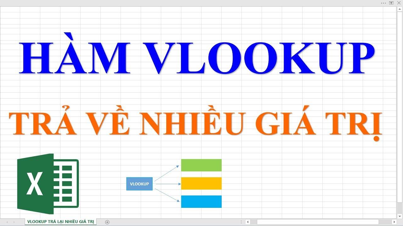 Hàm Vlookup trả về nhiều giá trị trong Excel