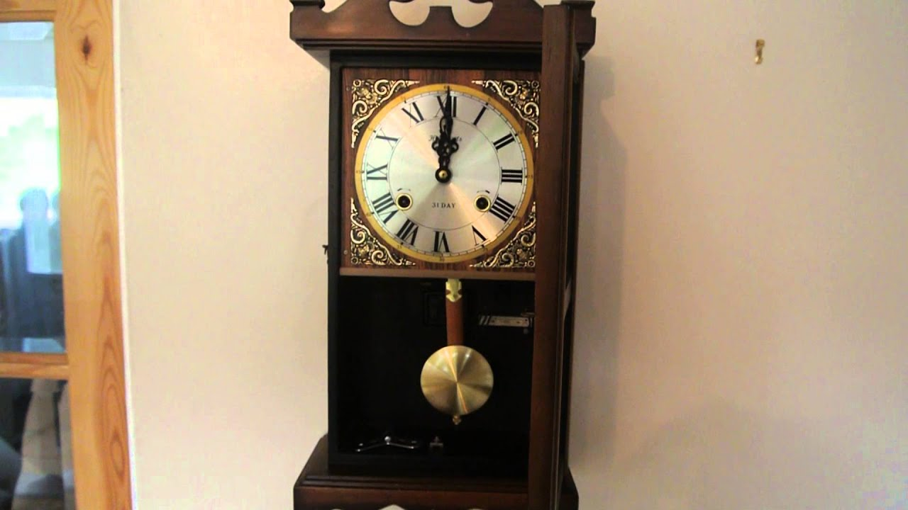 Antique wall clock highlands 31 days youtube amipublicfo Image collections