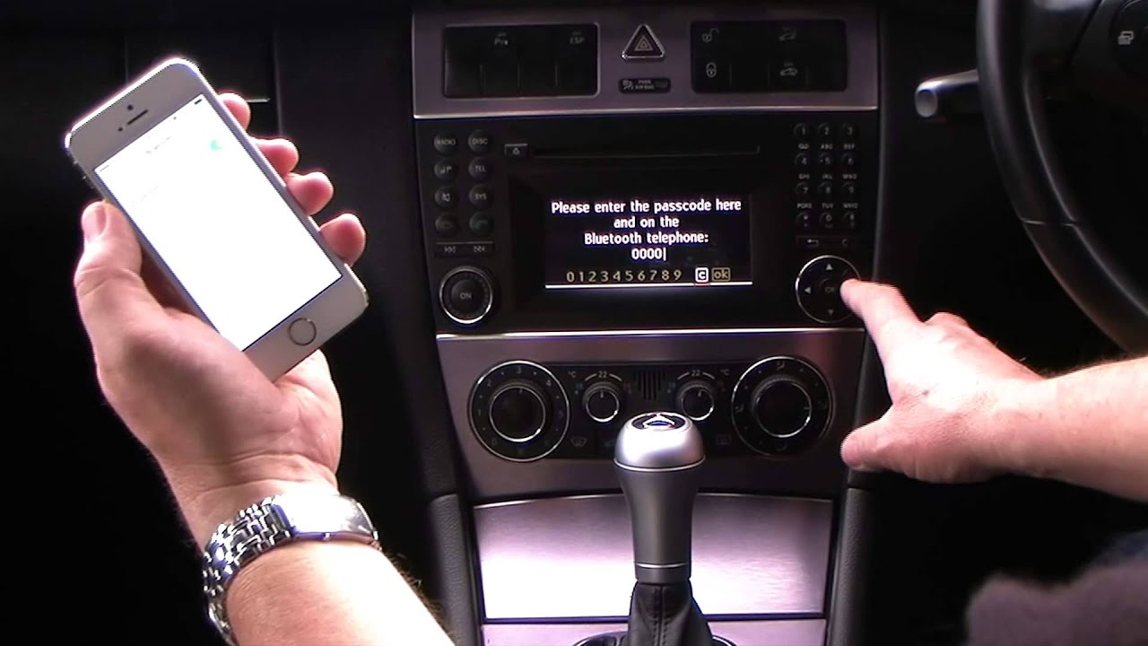 Syncing And Iphone To Mercedes Benz Clc Class 1 8 Clc180