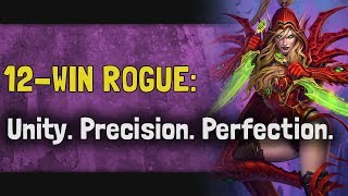 Hearthstone Arena | 12-Win Rogue: Unity. Precision. Perfection. (Boomsday #15)