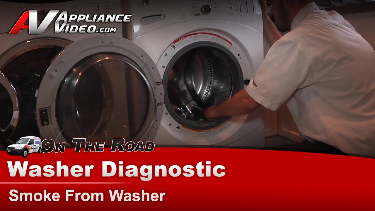 Ge Hotpoint Rca Washer Diagnostic Burning Rubber Smell Smoke From Wcvh6600hww