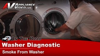 GE, Hotpoint & RCA Washer Diagnostic - Burning & Rubber smell & Smoke From Washer - WCVH6600HWW
