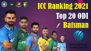 ICC Ranking 2021 | Top 20 ODI Batsman | Top 20 Dangerous ODI Batsman ICC Ranking 2021