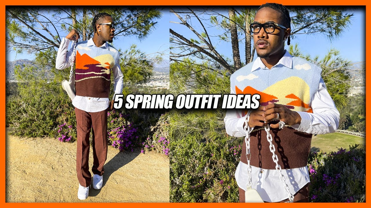 5 SPRING OUTFIT IDEAS | Men's Spring Fashion Lookbook (Spring Summer 2021)