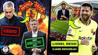 Kirúgta Mourinhot a Man. Utd! Íme, az utódja! Messi újabb rekordot ért el!   Foci Hírek