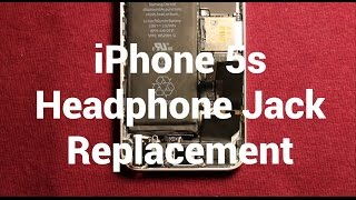 iPhone 5s Headphone Audio Jack Replacement How To Change
