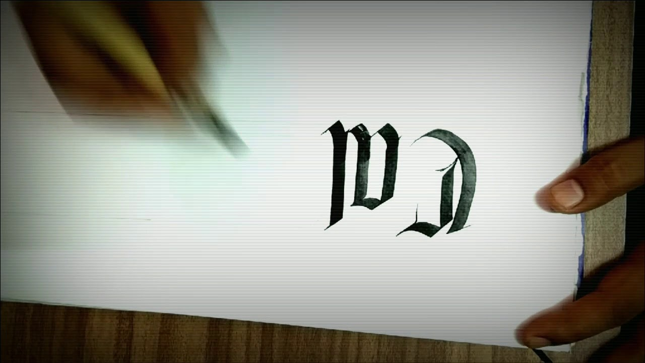Calligraphy, the art of writing. Fraktur. Gothic. - YouTube
